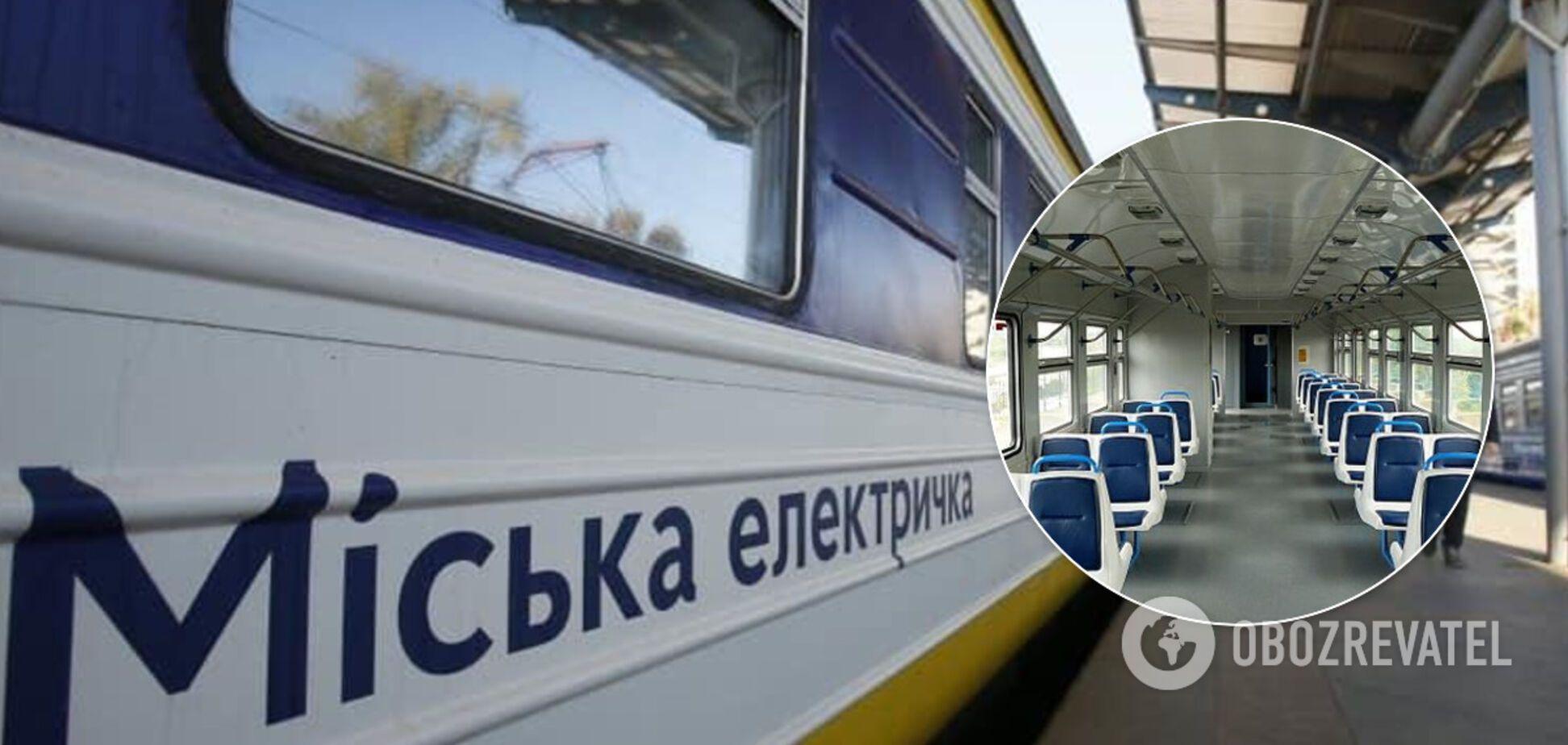 Городская электричка Киева