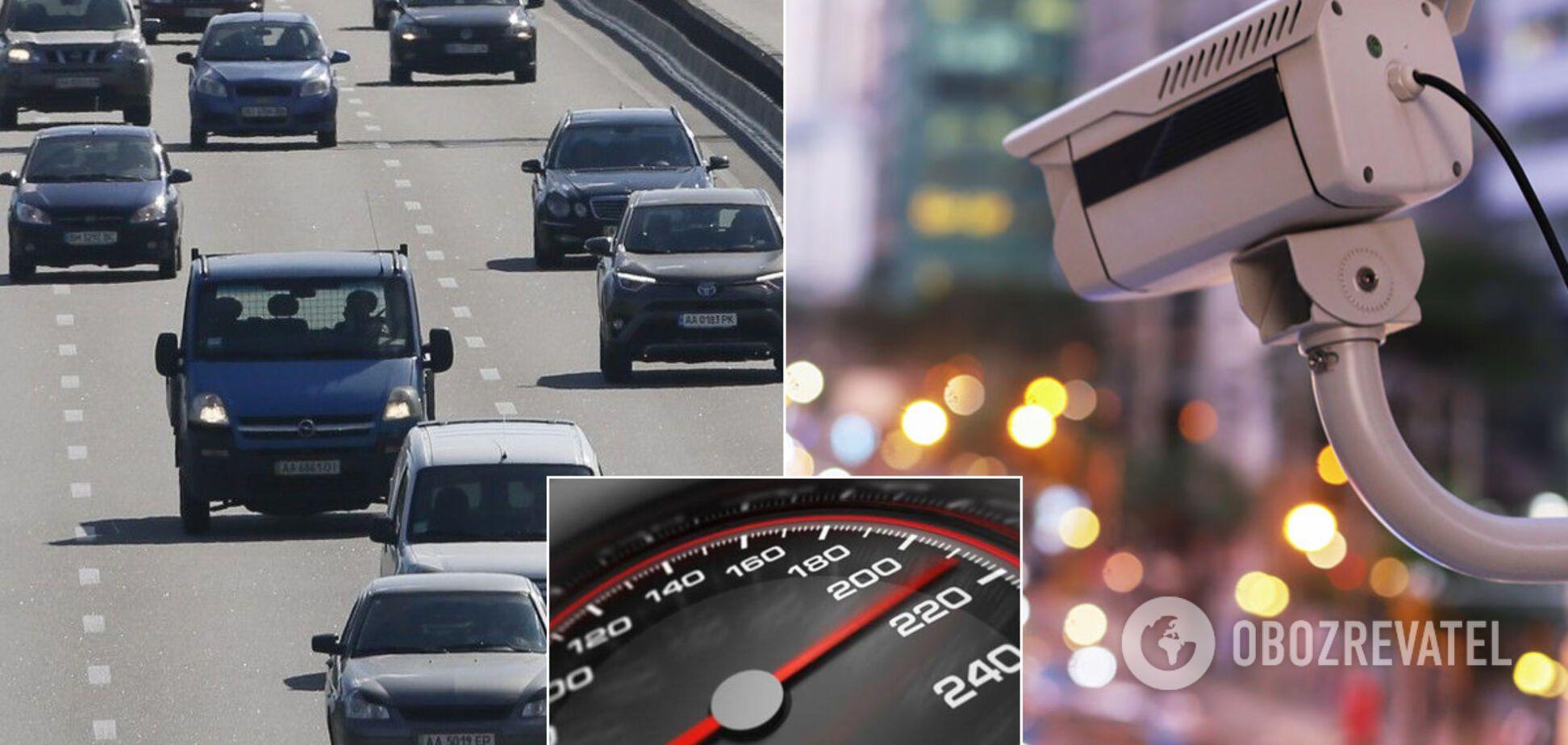 Камеры видеофиксации в Киеве сняли нарушителя ПДД