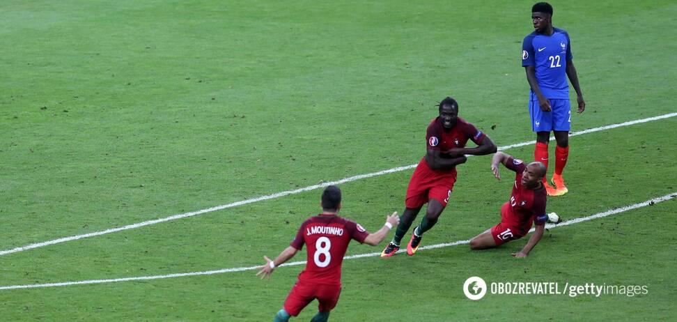 Едер святкує гол у ворота збірної Франції