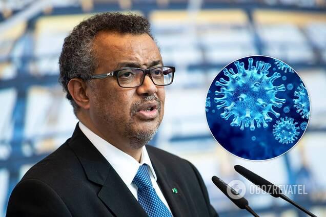 Голова ВООЗ заявив про погіршення ситуації з COVID-19