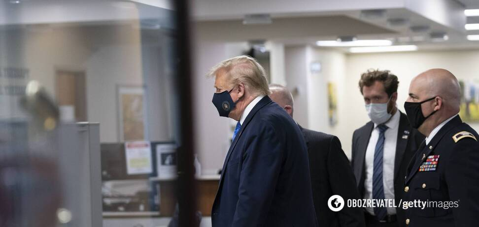 Дональд Трамп нарешті надів маску