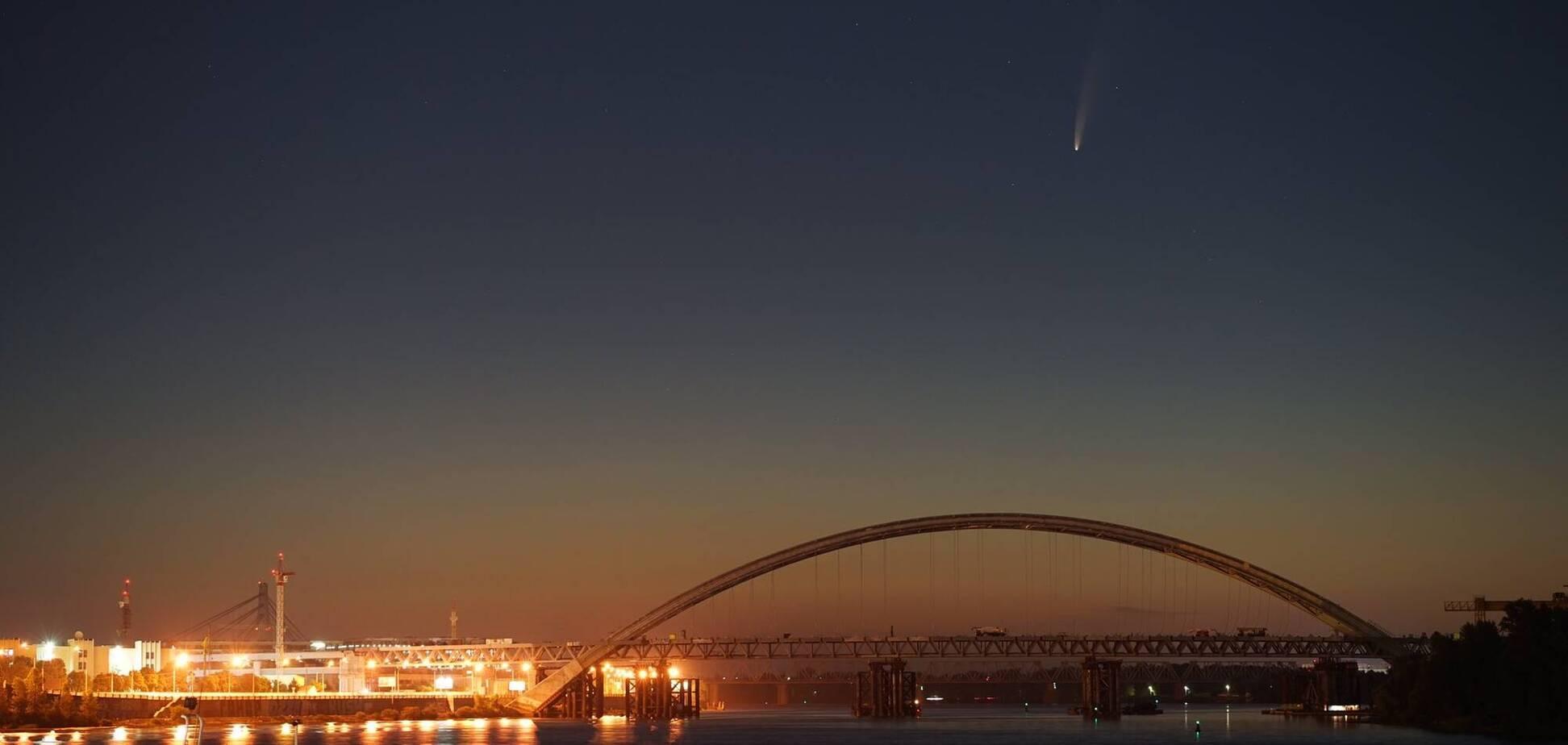 Комета C/2020 F3 над Києвом