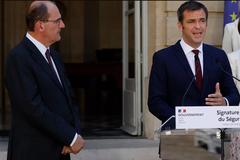 Министр здравоохранения Франции Оливье Веран и премьер-министр Жан Кастекс