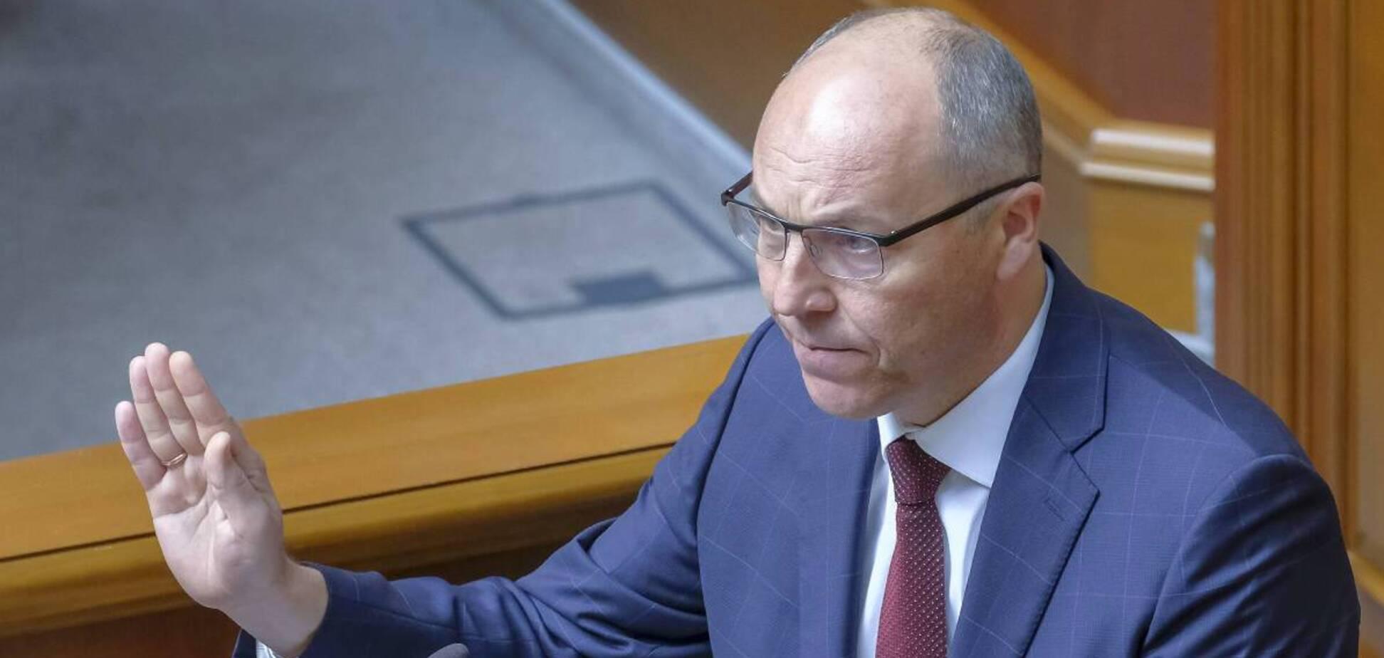 Парубій закликав Раду не розглядати скандальний 'мовний' законопроєкт 'слуг'