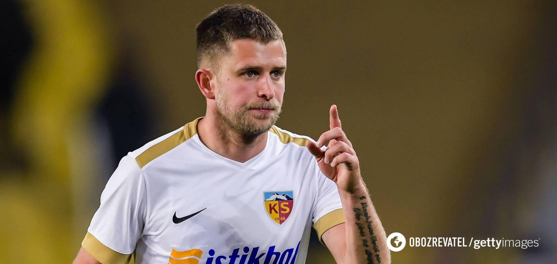Артем Кравец забил в третьем матче подряд и спас 'Кайсериспор' от поражения на последних минутах
