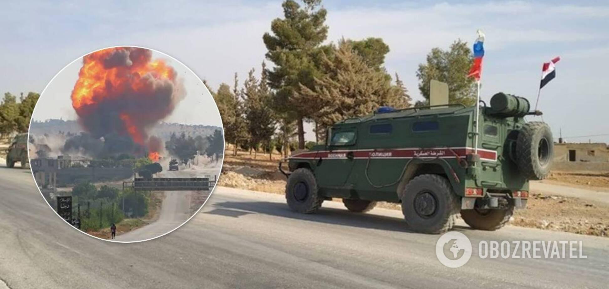 В Сирии подорвали российских военных: ЧП попало на видео