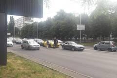 В Киеве друг с другом столкнулись два BMW, Mercedes и Camaro