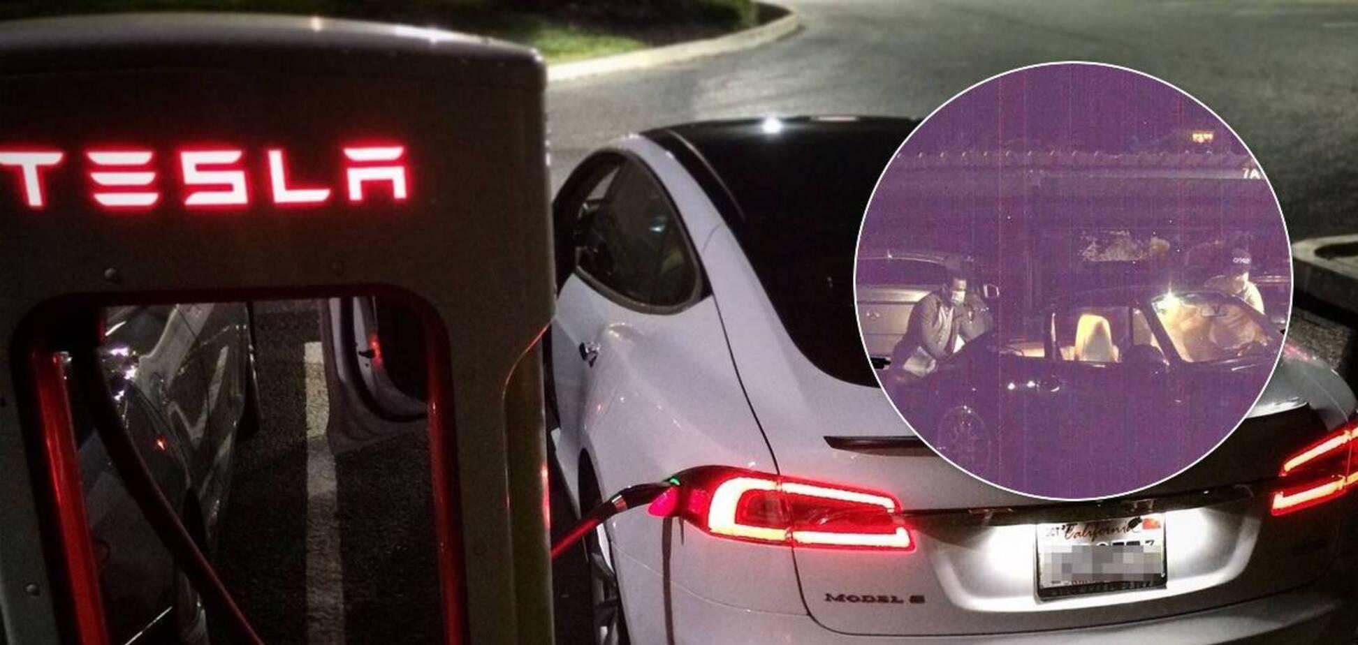 Электромобиль Tesla помог найти преступников