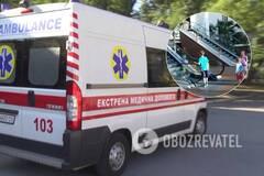 В Черновцах на эскалаторе в ТЦ травмировался ребенок