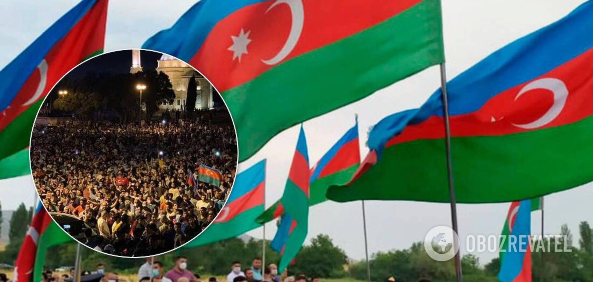 Азербайджан всколыхнул митинг из-за войны с Арменией: на улицы вышли тысячи людей. Видео