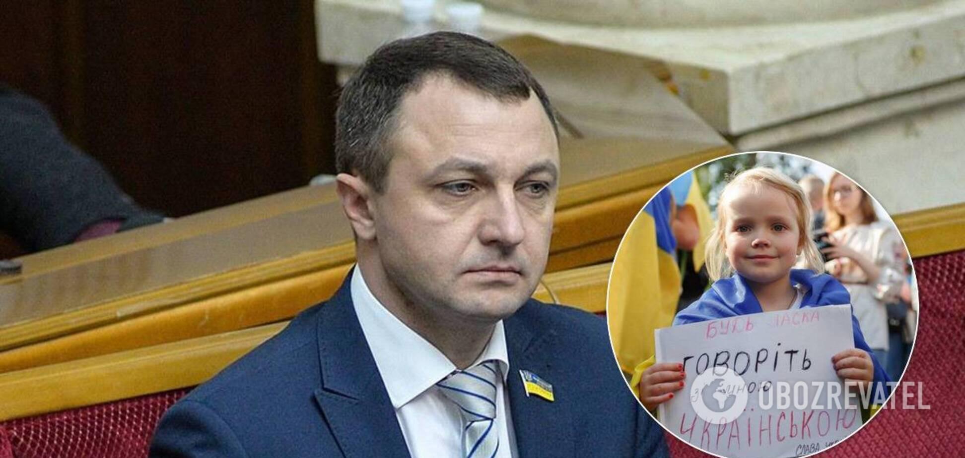 Мовний омбудсмен виступив проти законопроєкту Бужанського про русифікацію освіти