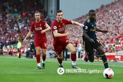 Матч первого круга АПЛ между 'Ливерпулем' и 'Арсеналом'