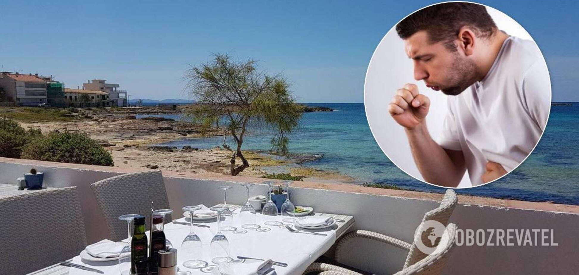 П'яного туриста заарештували за кашель в ресторані на популярному курорті