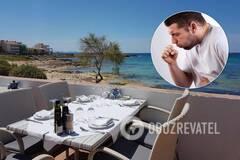 Пьяного туриста арестовали за кашель в ресторане на популярном курорте