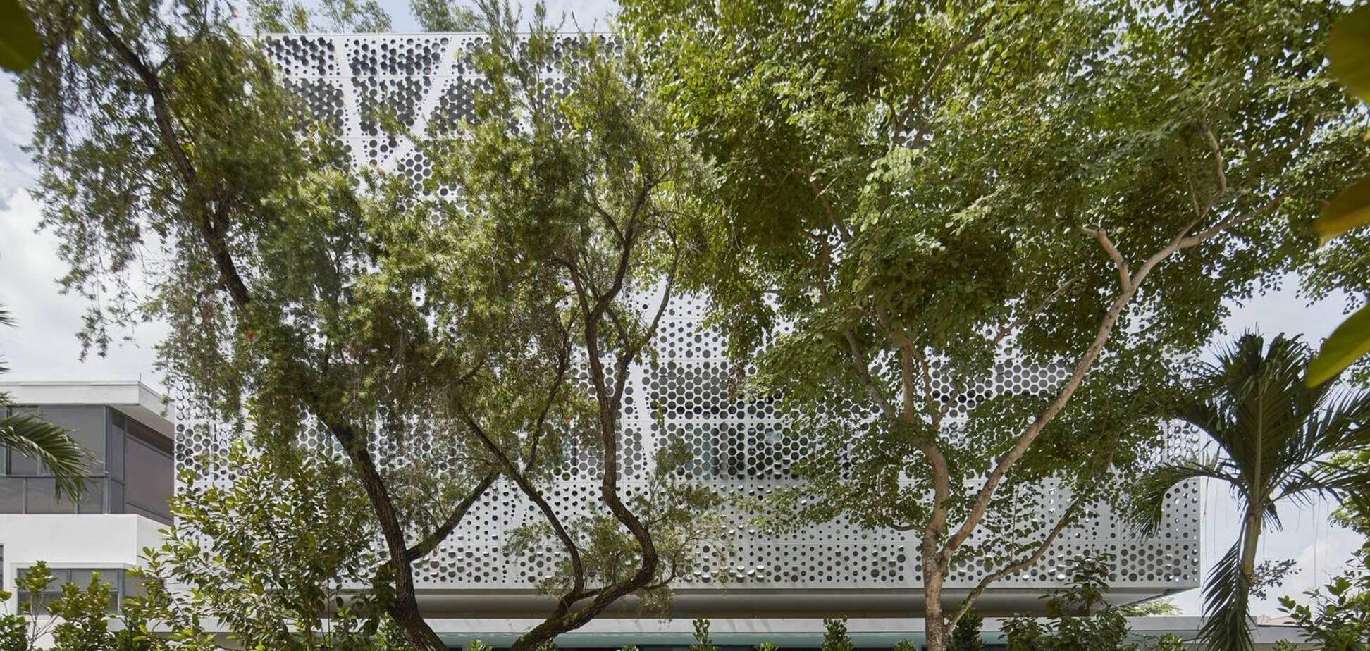 Уникальный экологический дом с двойным фасадом построили в Сингапуре. Фото