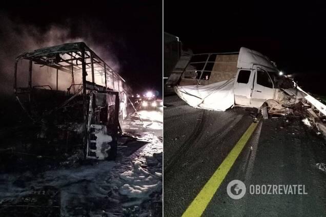 В России произошло ДТП с автобусом из Донецка