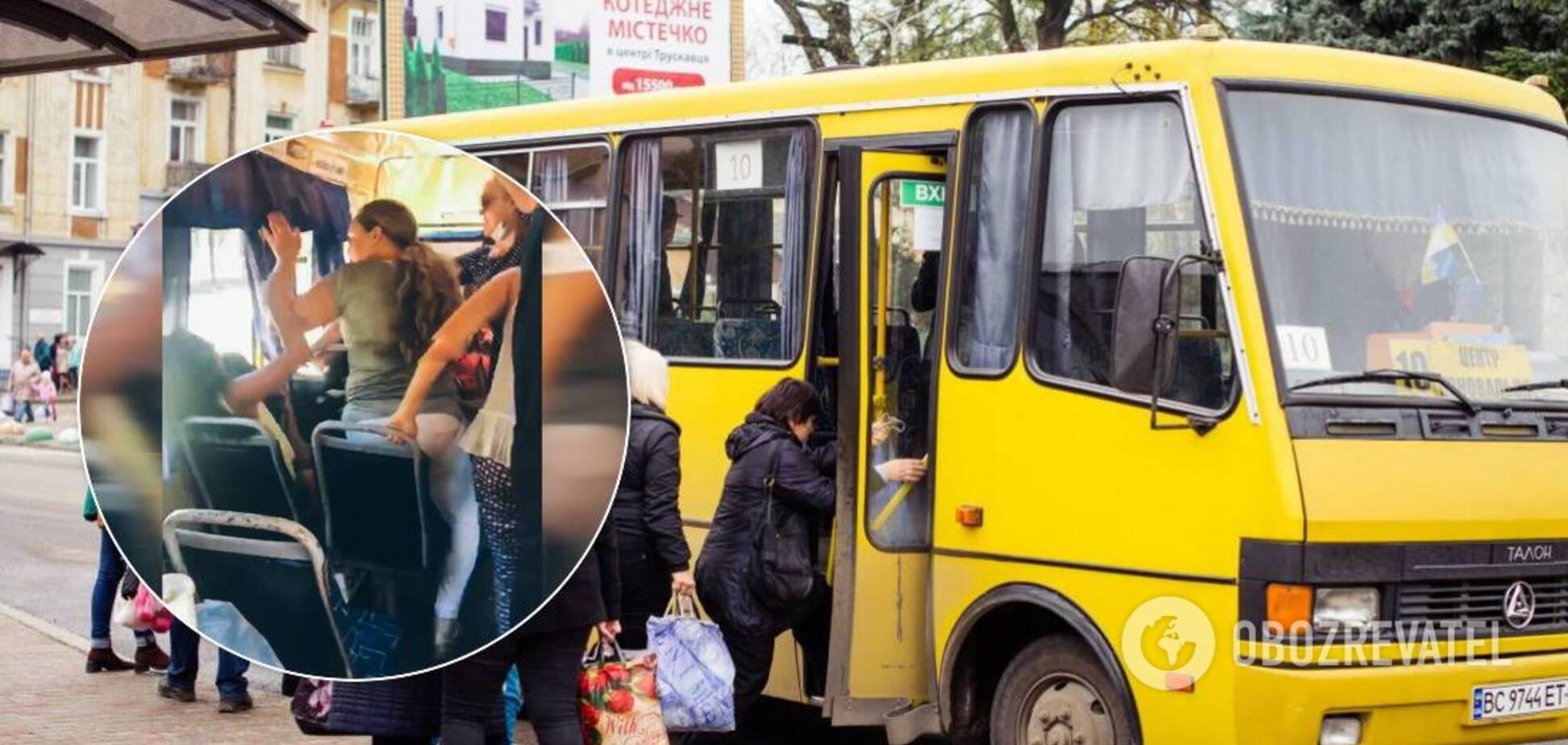 В Днепре мужчина с пенсионерками жестоко избили девушку в маршрутке. Видео