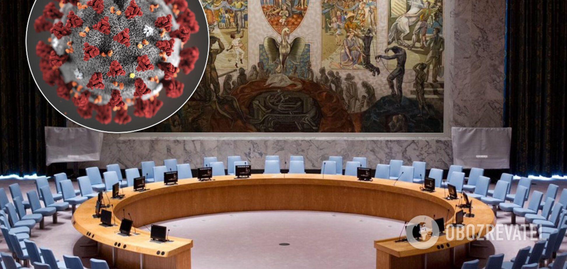 Радбез ООН через пандемію ухвалила резолюцію щодо припинення вогню: Росія повинна скласти зброю