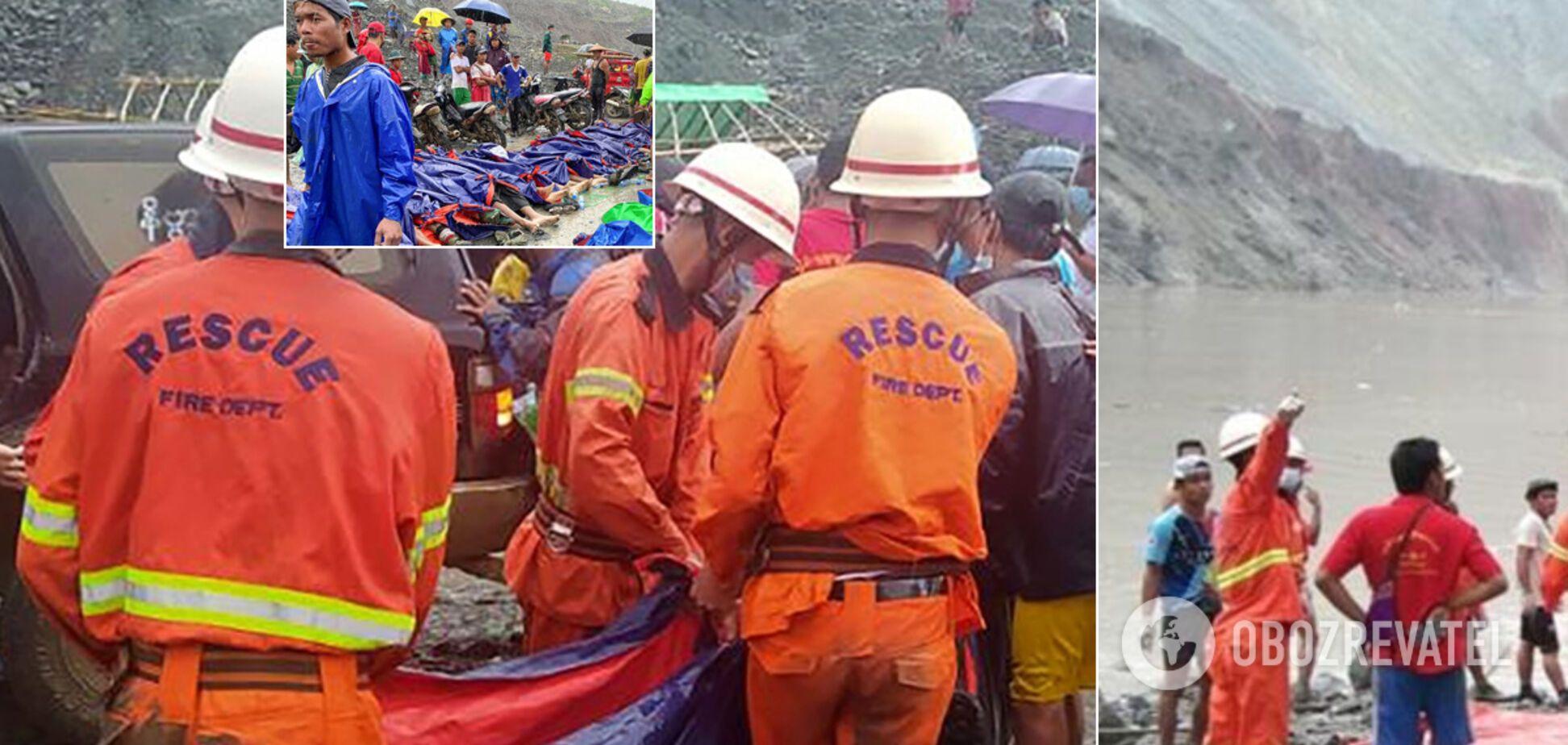 113 человек погибли во время оползня в Мьянме