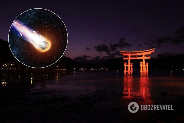 Над Японією пролетів метеор
