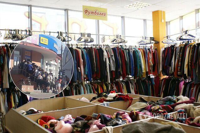 В Тернополе люди скопились в очереди к секонд-хенда