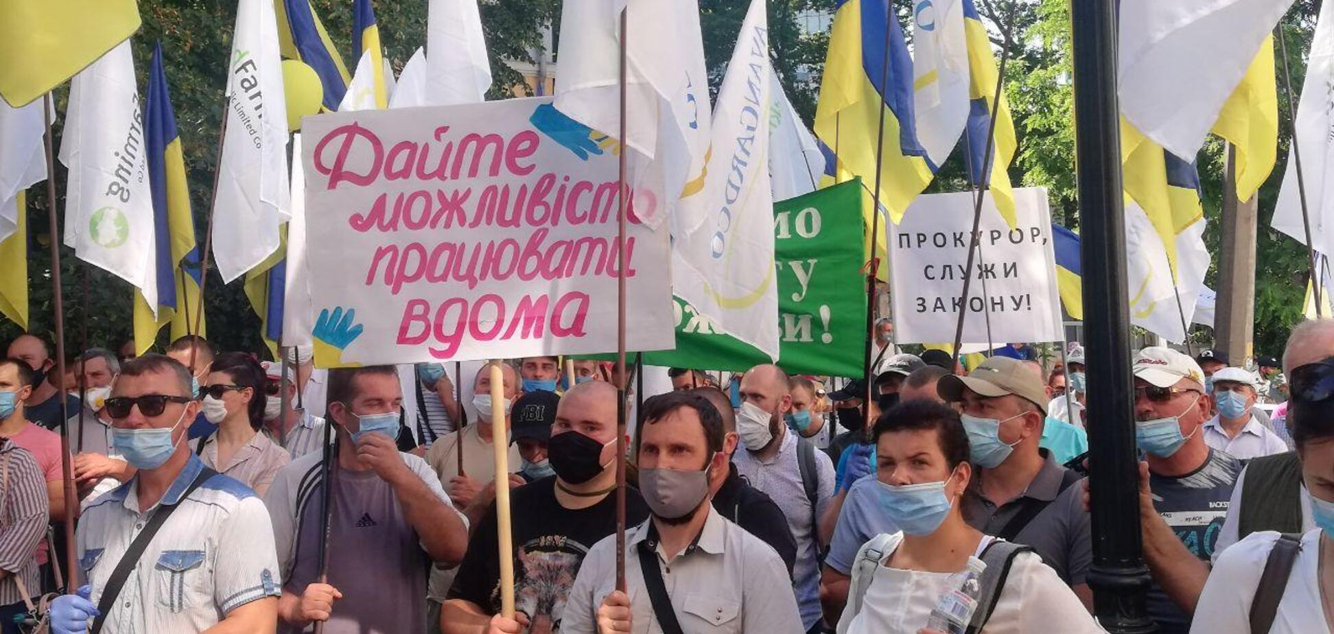 'Укрлендфарминг' Бахматюка начал бессрочную акцию под САП