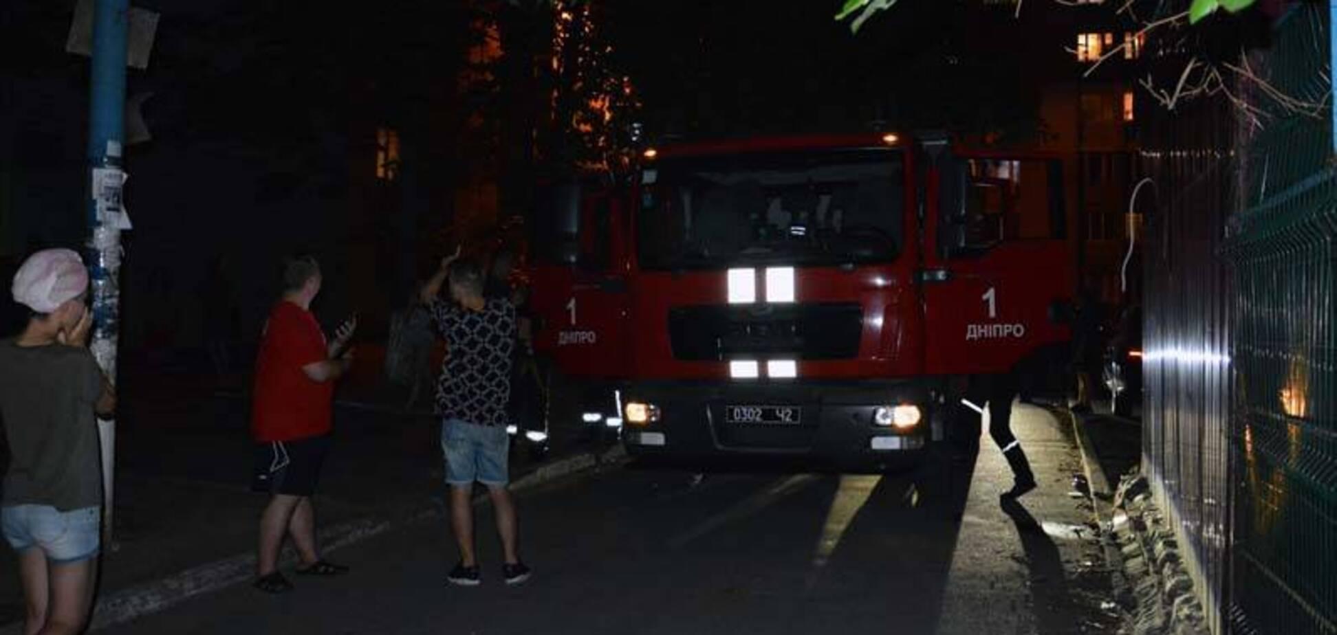 У Дніпрі горів гуртожиток: студенти евакуювалися самостійно. Фото