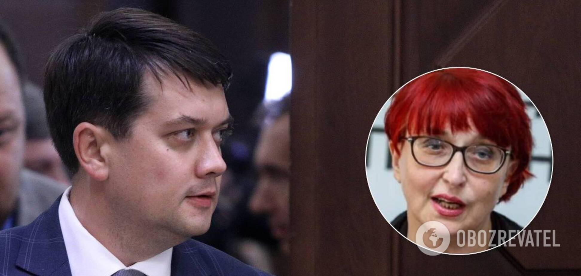 Разумков заочно ответил Третьяковой на жалобы о низкой зарплате
