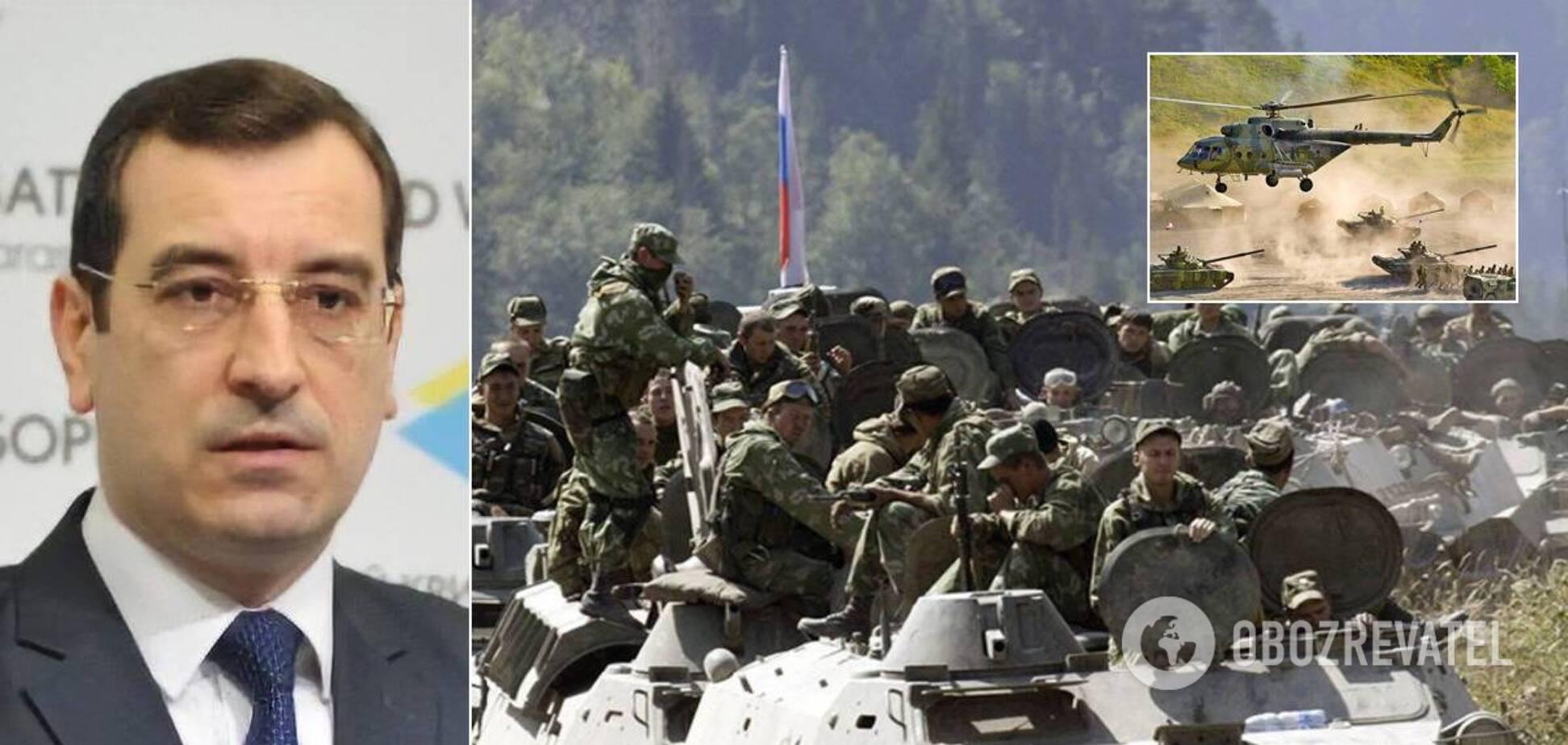 Россия стянет к границам Украины тысячи военных и технику