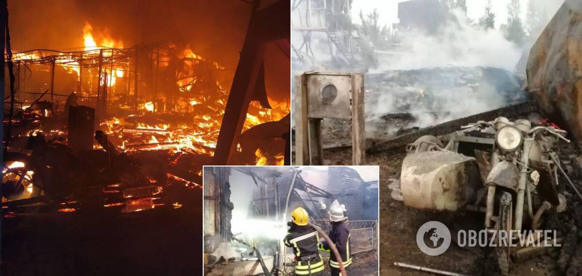 В Затоке мощный пожар уничтожил две базы отдыха: есть пострадавшие. Фото