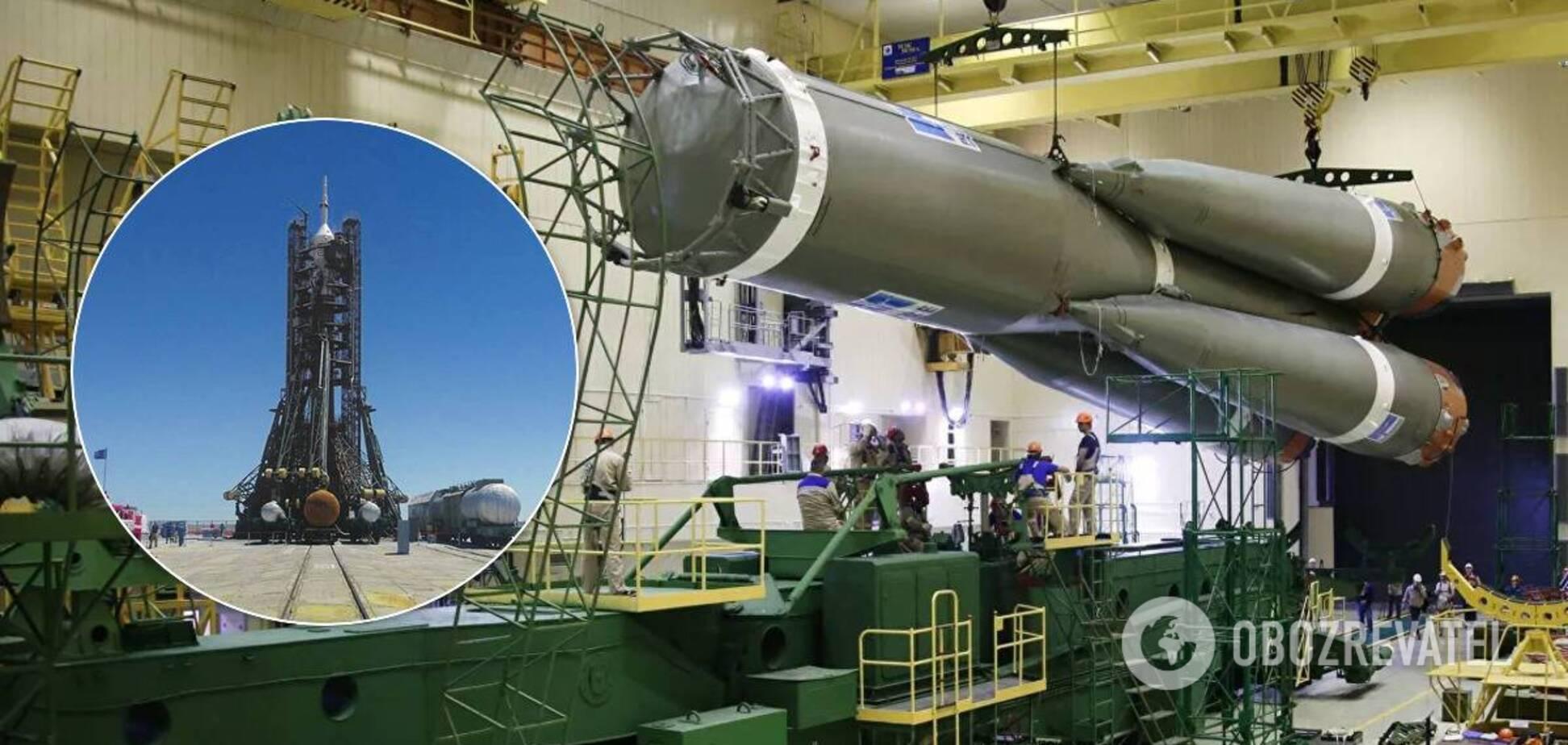 'Роскосмос' повідомив про зауваження під час установлення ракети 'Союз' на Байконурі