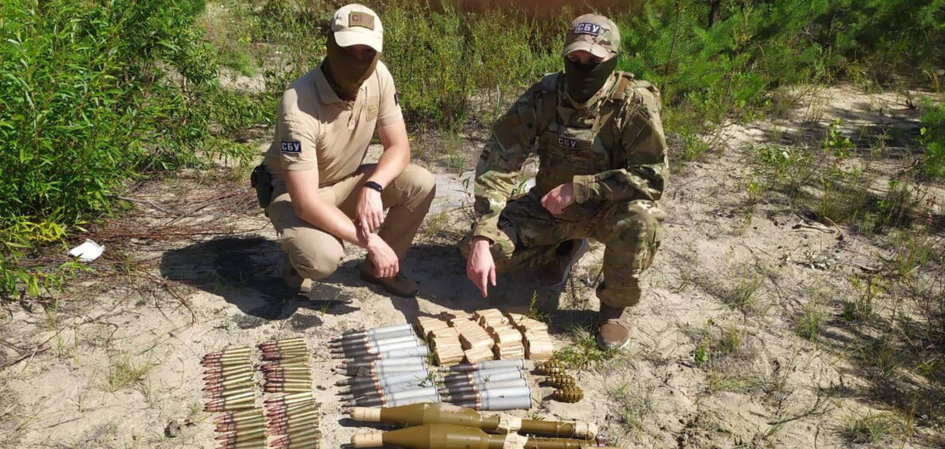 СБУ виявила арсенал зброї бойовиків