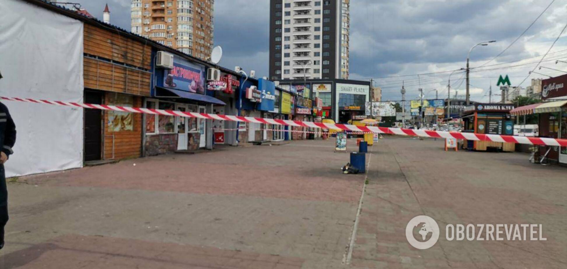 В Киеве произошел взрыв у станции метро 'Минская'
