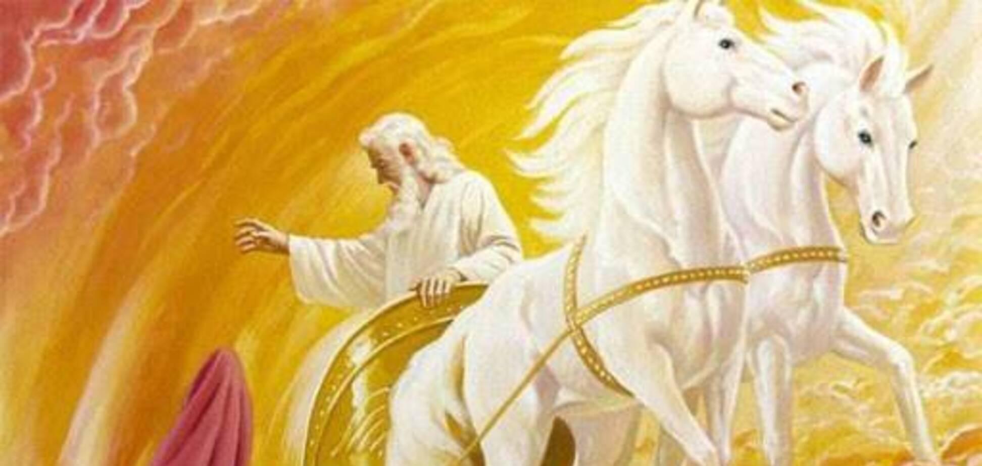 Считается, что святой пророк Илья вознесся на небо на огненной колеснице. Источник: Фото: tbn-ua.org