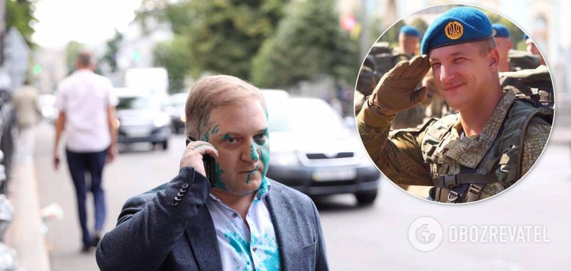 За напад на нардепа від ОПЗЖ Волошина в Києві затримали ветерана АТО Погребиського