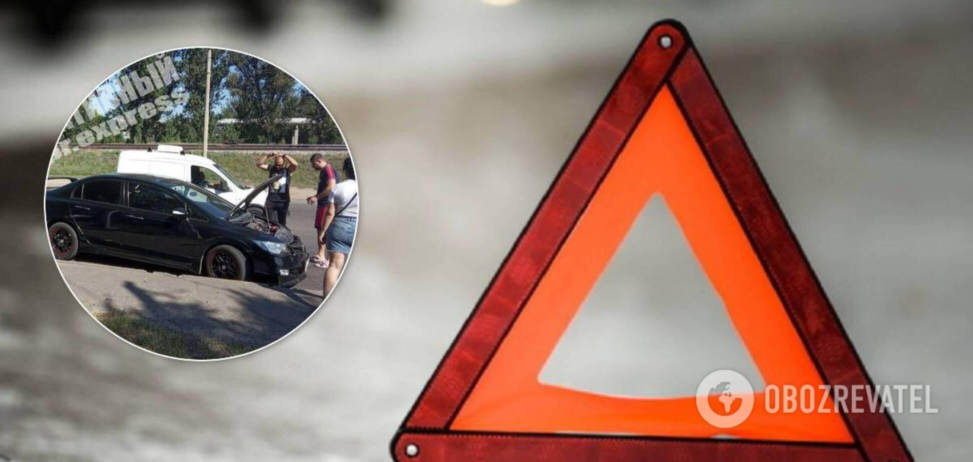 У Дніпрі на перехресті сталося дві ДТП: утворився великий затор. Відео
