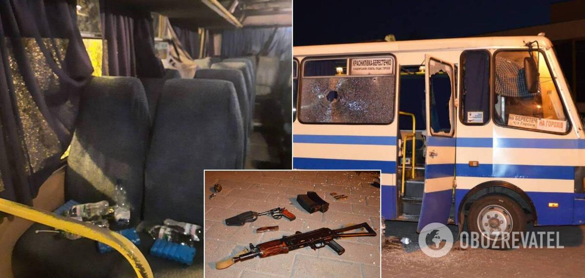 Свіжі фото з місця теракту з автобусом у Луцьку