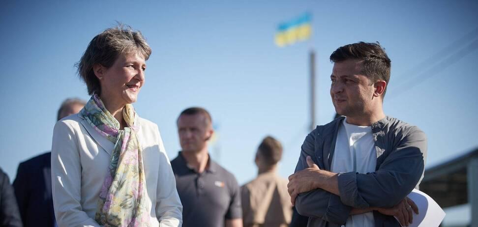 Симонетта Соммаруга и Владимир Зеленский. Фото - сайт президента Украины