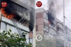 На пожаре в Киеве заживо сгорела женщина
