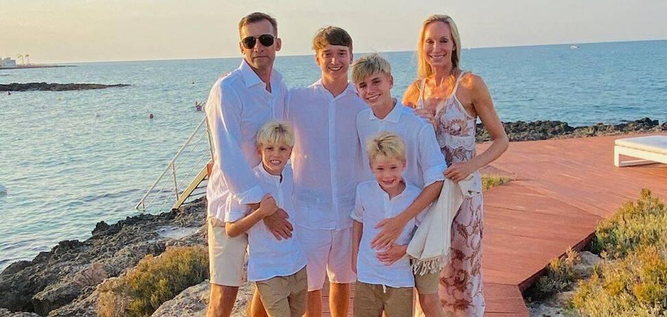 Андрей Шевченко с семьей