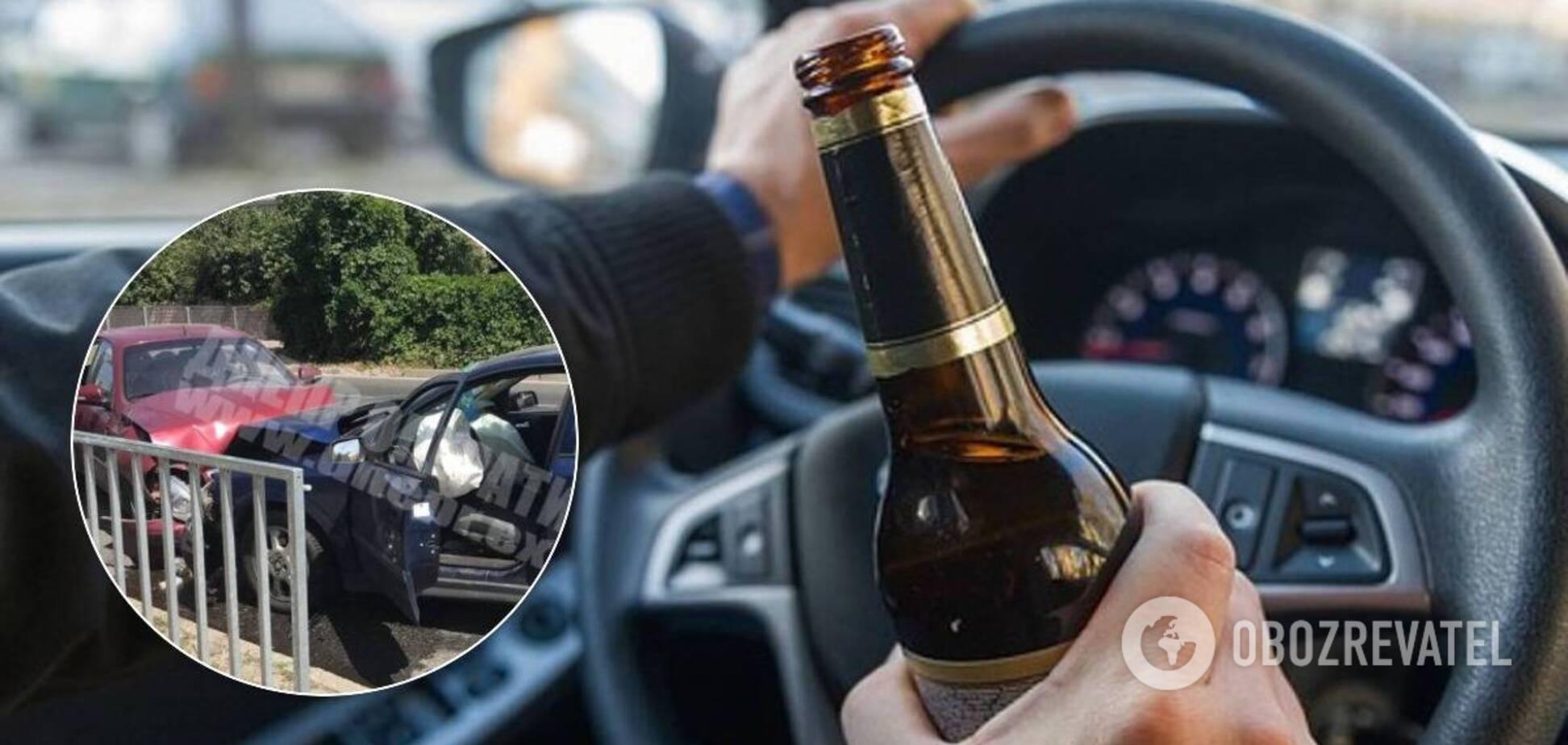 У Дніпрі п'яний водій влаштував лобову ДТП. Фото