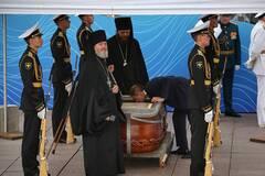 В Питере на параде ко Дню ВМФ выставили гроб с останками адмирала Ушакова