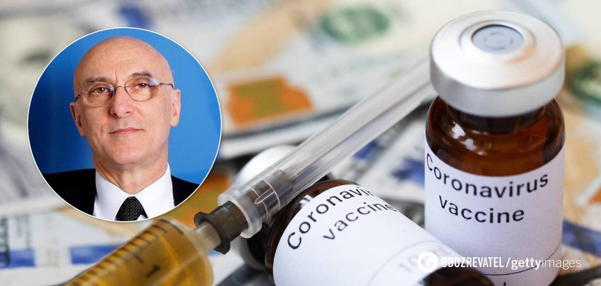 Ді Лоренцо заявив, що вакцина від COVID-19 з'явиться в продажу в січні 2021-го
