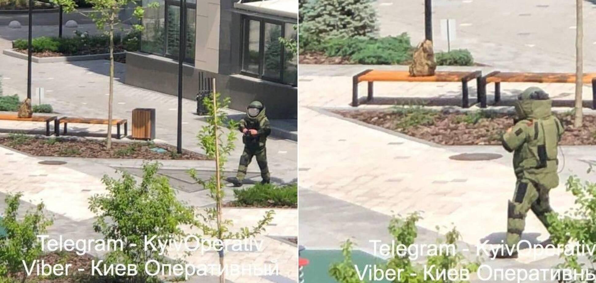 Подозрительный рюкзак на Печерске в Киеве оказался безопасным