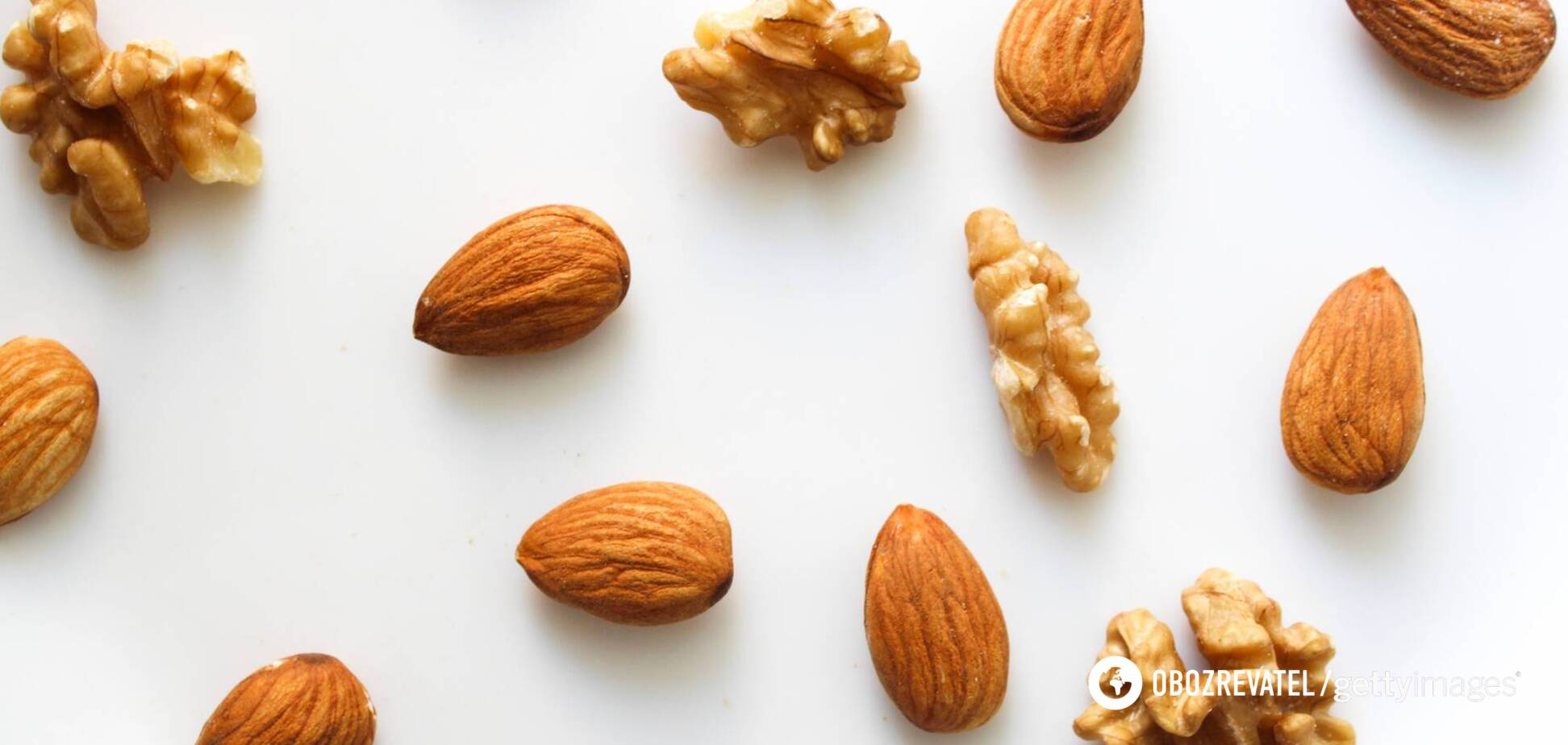 Грецкий орех и миндаль способствуют снижению 'плохого' холестерина