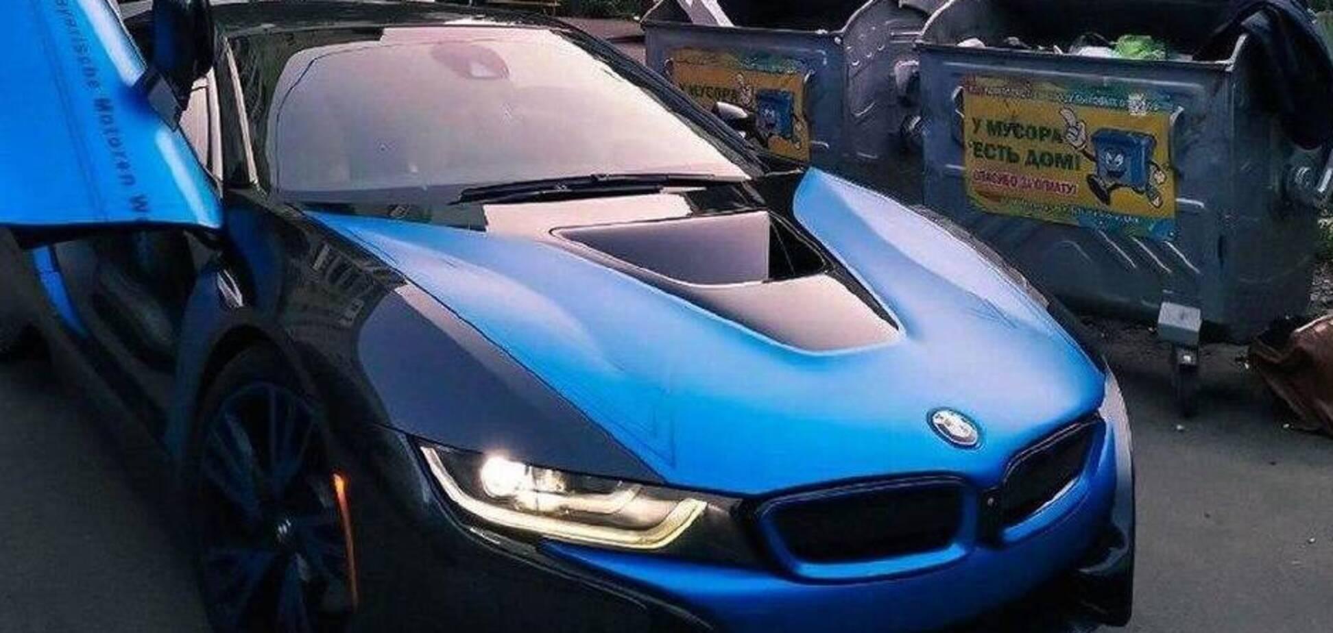 BMW i8 на незвичайній локації. Джерело: Фото: kharkiv_cars