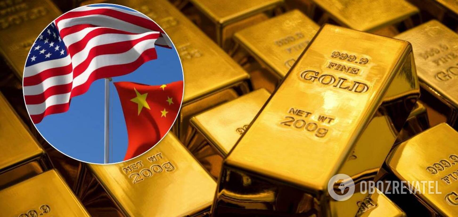 Ціни на золото досягли максимуму через протистояння Сполучених Штатах Америки і Китаю. Джерело: колаж Обозревателя