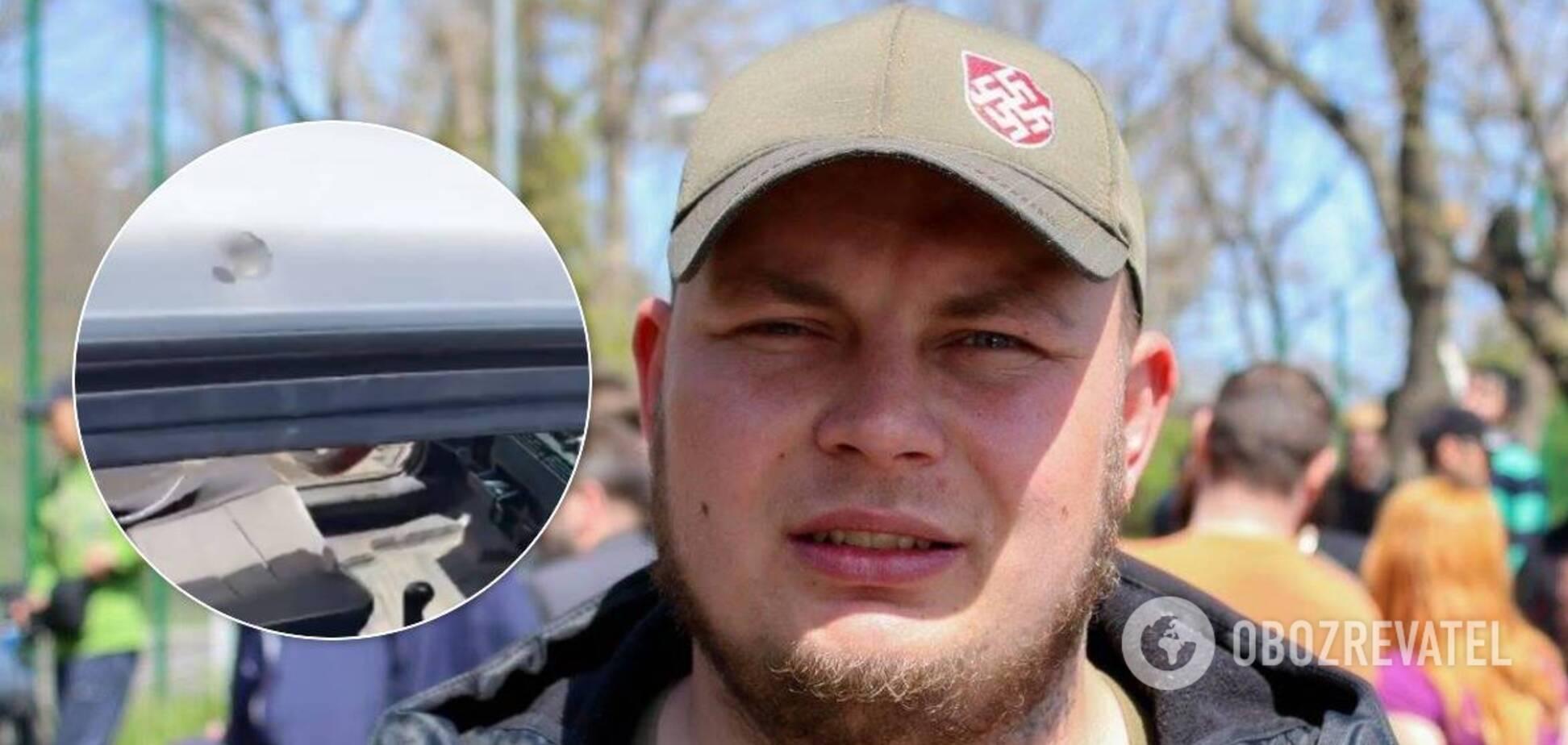 Одеський активіст заявив про замах на нього та показав сліди стрільби