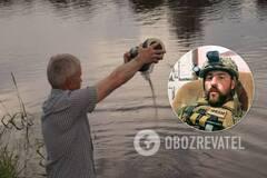Над Днепром развеяли прах Николая Илина