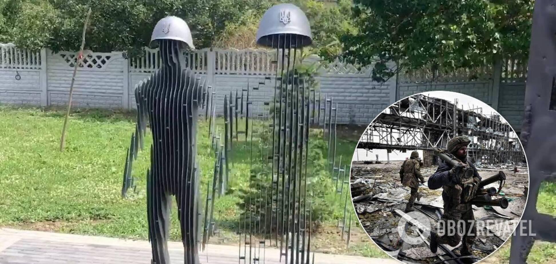 Украинцев поразил памятник киборгам, который 'исчезает'. Видео